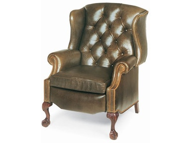 Hancock and Moore Sterling Tufted Wing Chair Power Recliner 1013-PR