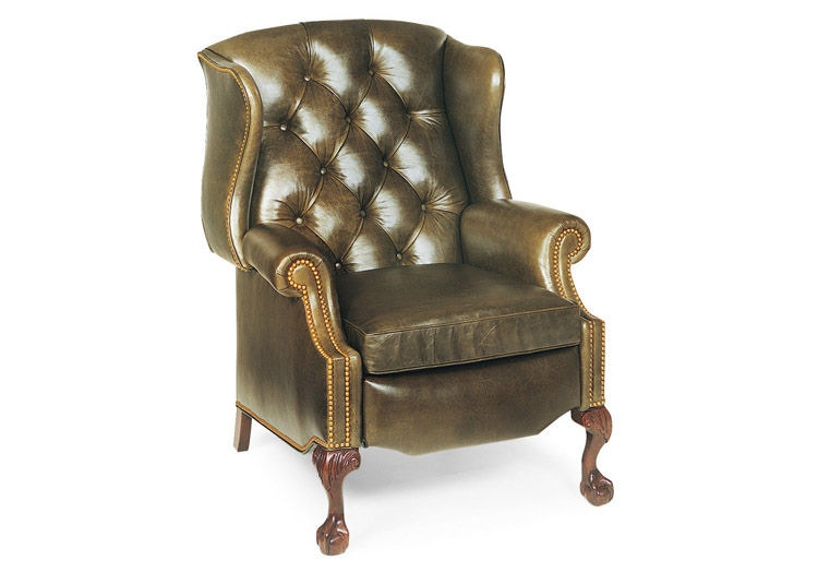 Hancock And Moore Sterling Tufted Wing Chair Recliner 1013