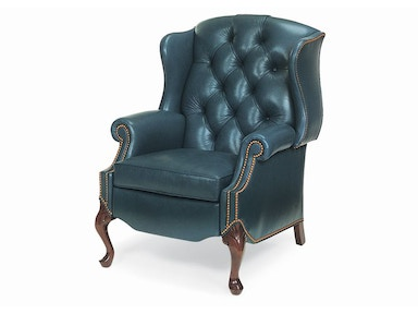 Hancock and Moore Alexander Tufted Wing Chair Power Recliner 1015-PR