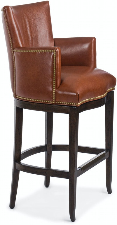 Hancock And Moore Bar And Game Room Swivel Counter Stool
