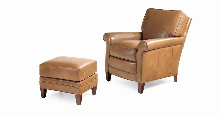 Hancock And Moore Lennon Chair And Ottoman 1235/1234
