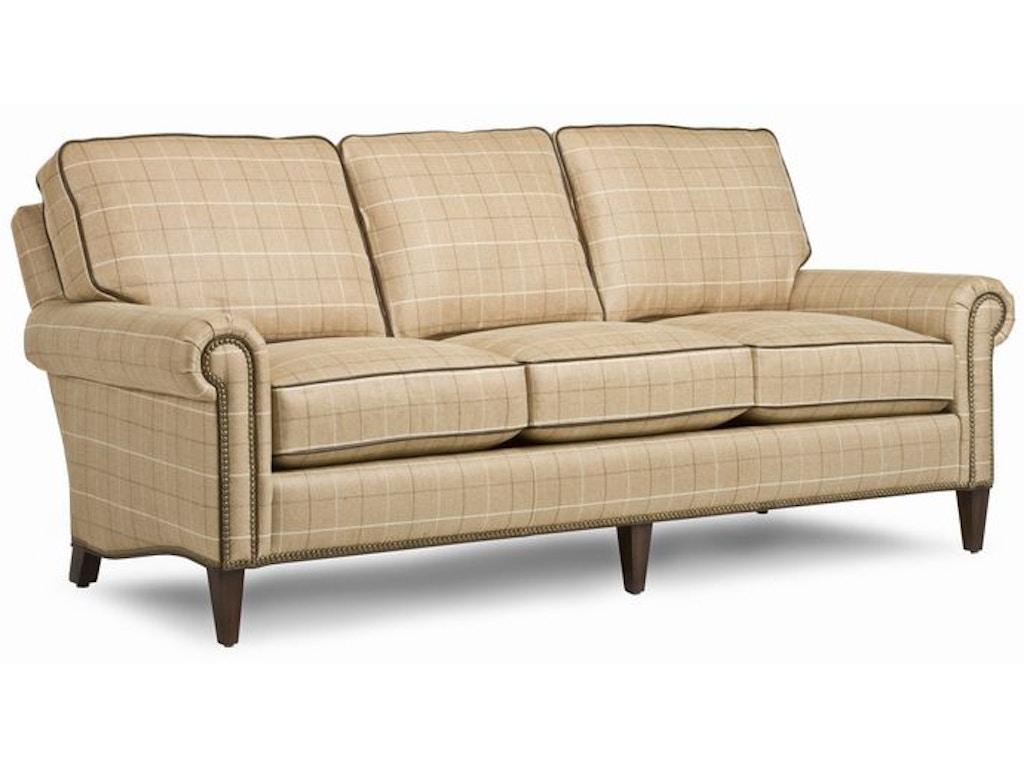Hancock And Moore Living Room Reserve Sofa 5370 Meg Brown Home Furnishings Advance Winston