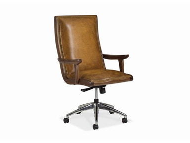 Hancock and Moore Yachtsman Swivel Tilt Pneumatic Lift Chair With Walnut Wood 6043WST-PL