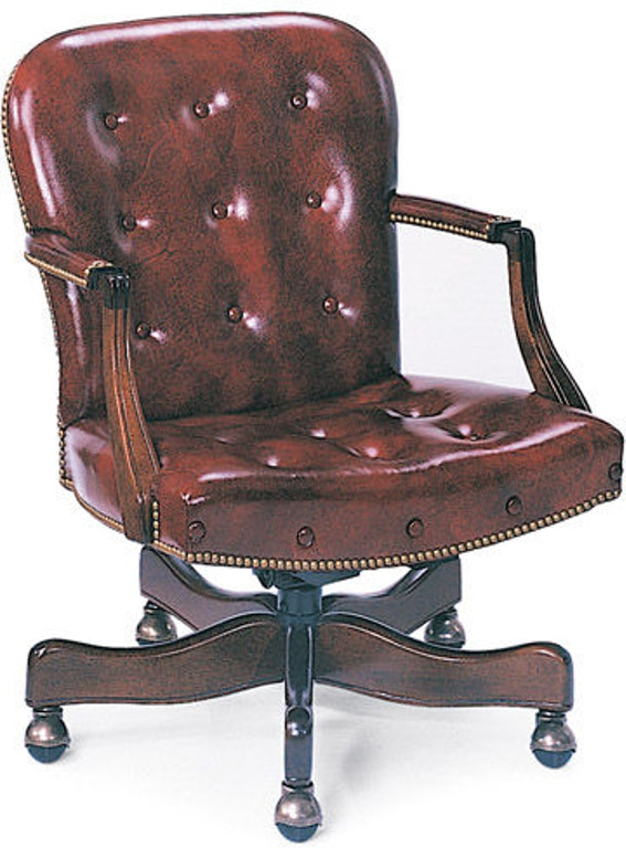 Hancock And Moore Home Office Georgetown Buttoned Swivel Tilt Chair 8315st Wells Home Furnishings