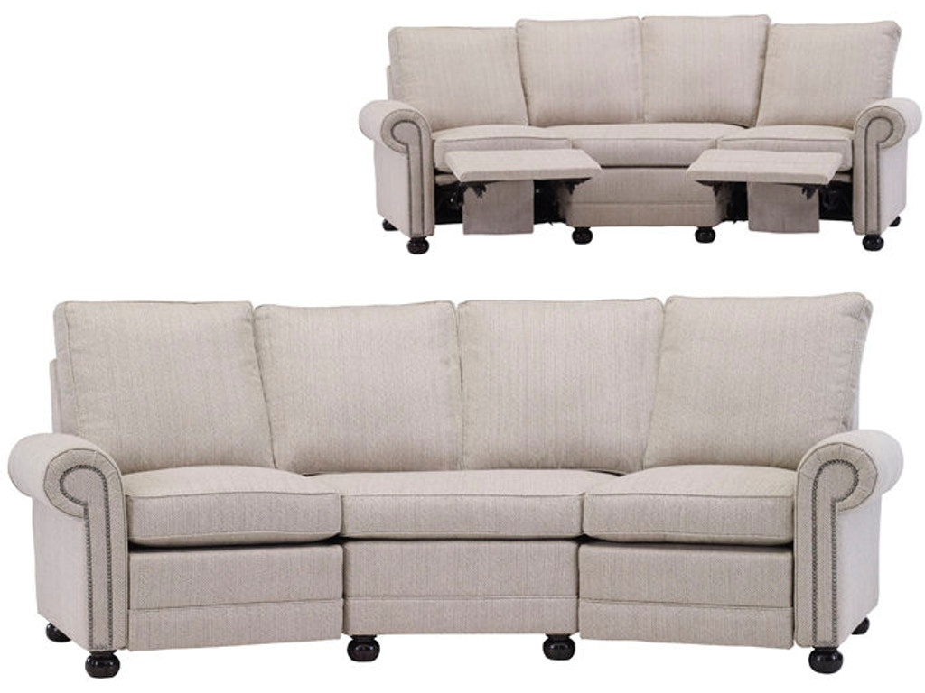 Leathercraft Furniture Living Room Austin Angled Reclining Sofa 2520 Rec2ang Elite Interiors