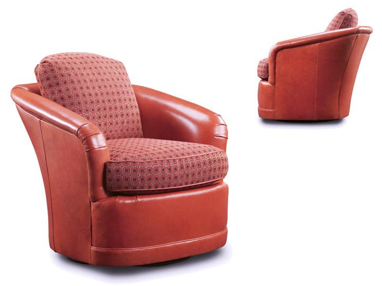 Leathercraft Furniture Living Room Louise Swivel Chair 2722 ...
