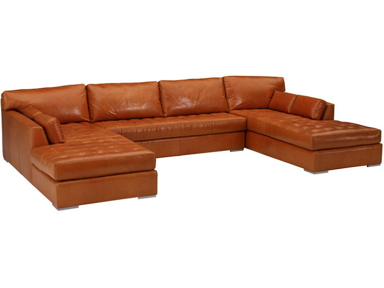 Leathercraft Furniture Living Room Skyline Sectional 4450-Sectional ...