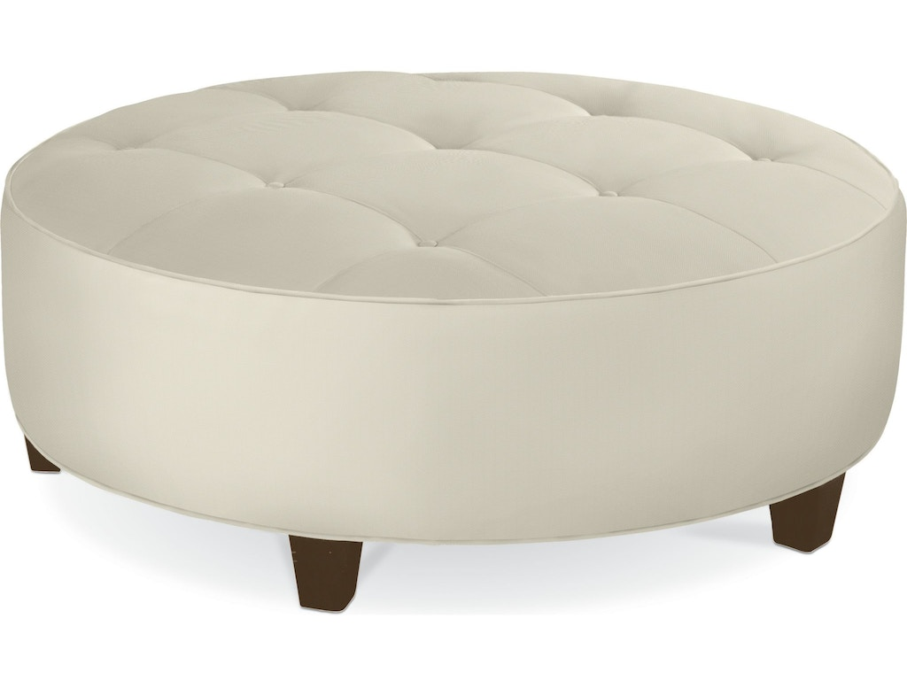 Thomasville living room brooklyn round button top ottoman for Living room west 6 brooklyn