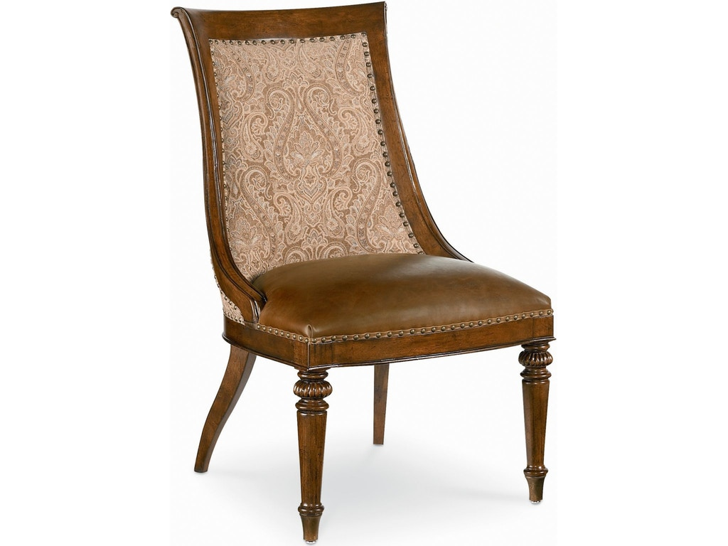 Thomasville dining room marceliano upholstered side chair for Upholstered dining room side chairs