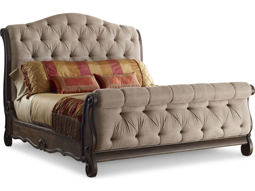 Thomasville bedroom upholstered sleigh bed queen 84811 for Q furniture and mattress beaumont tx