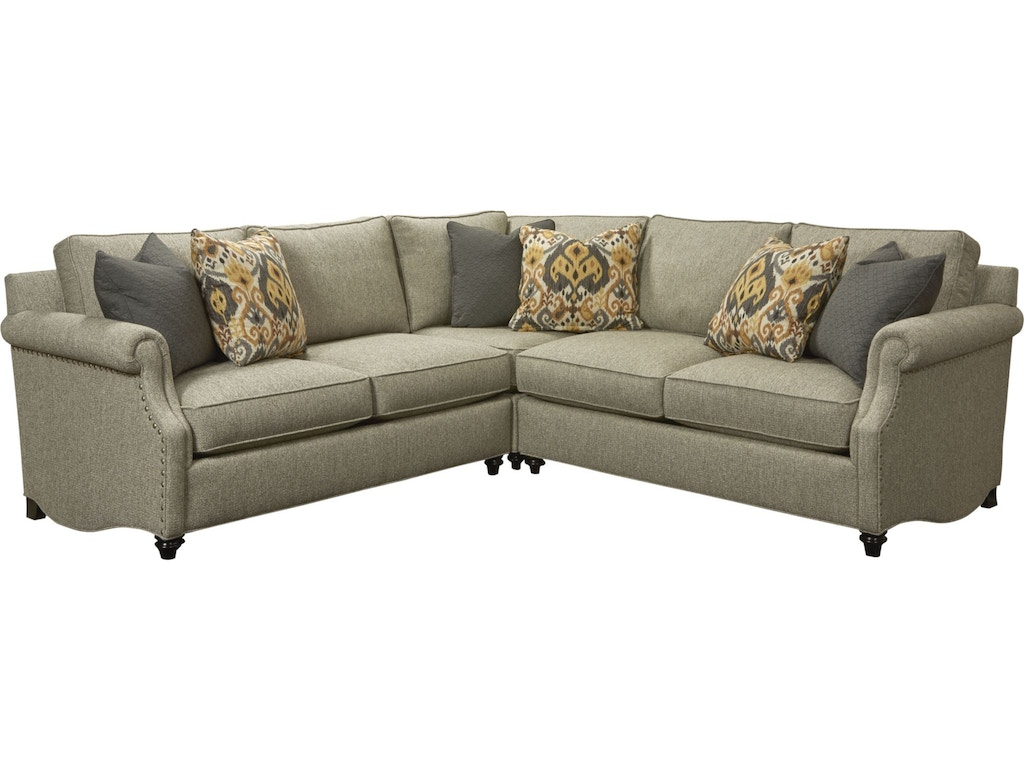 Thomasville living room ancil sectional custom t114c Living room furniture raleigh nc