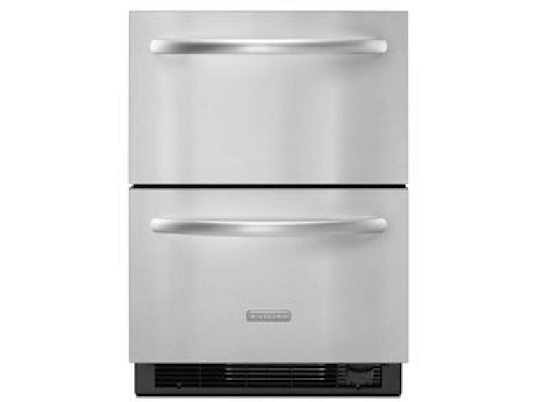 KitchenAid Architect II Double-Drawer Refrigerator KDDC24CVS ...