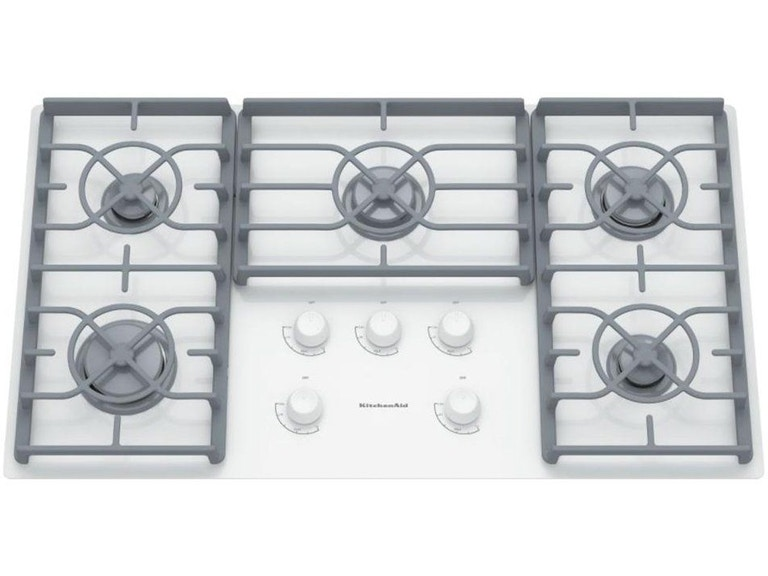Kitchenaid 36 Ceramic Glass Gas Cooktop Kgcc566rww Sides