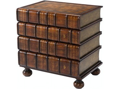 6000 017bd A Hand Carved And Gilt Faux Book Chest Of Drawers