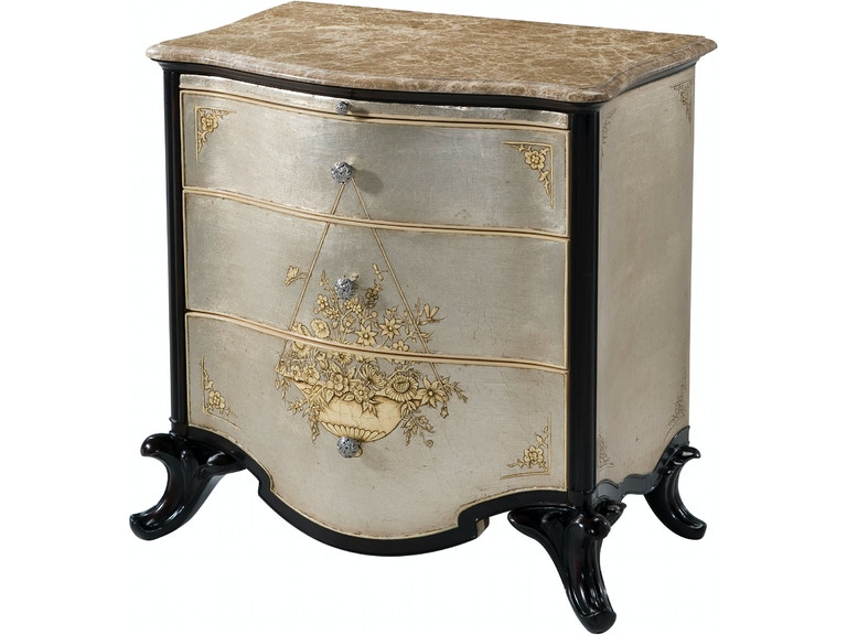 Theodore Alexander Bedroom Argento Nightstand 6002 206 At Toms Price Furniture