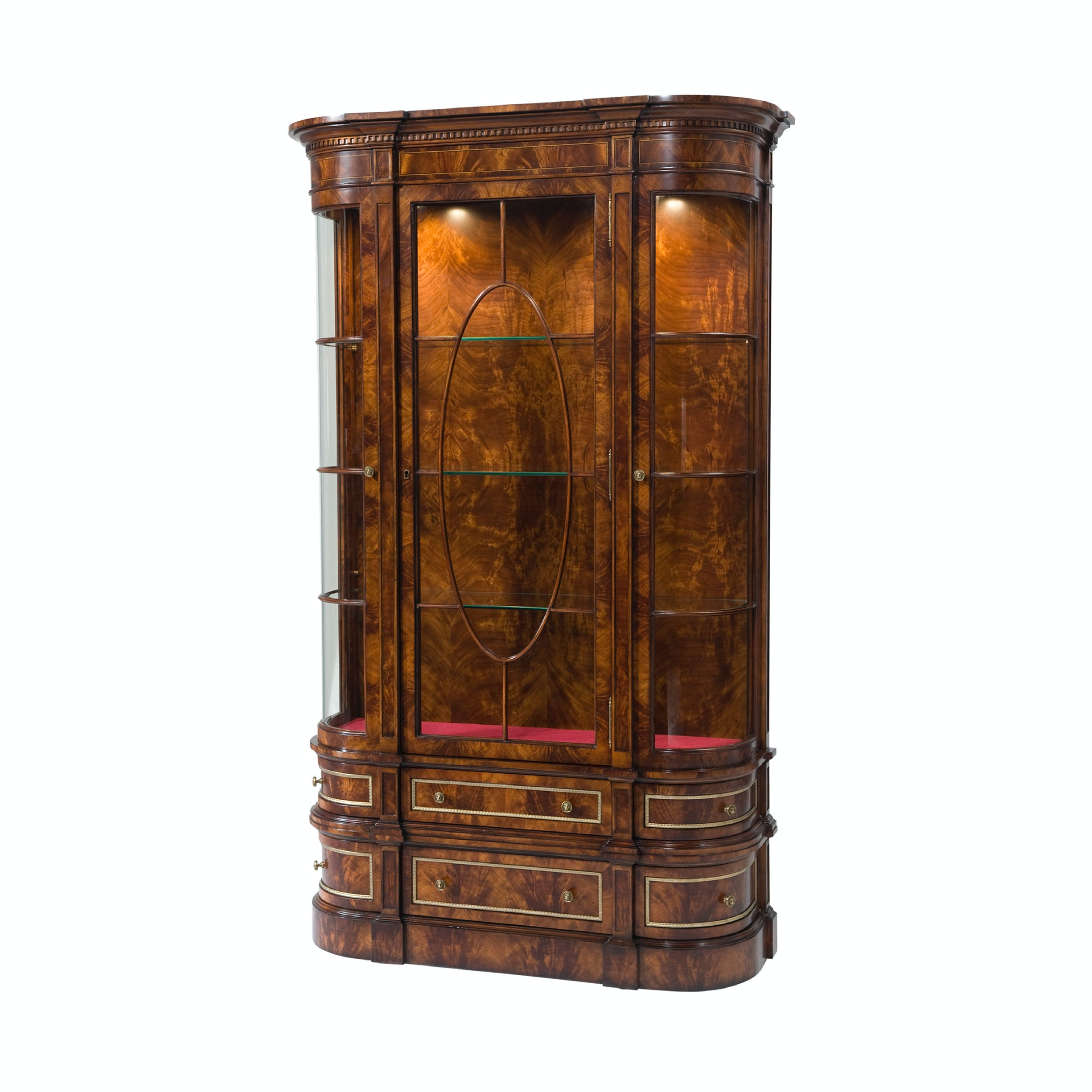 Theodore Alexander Bar And Curio Cabinets Gothic Library Display Cabinet  AL61077