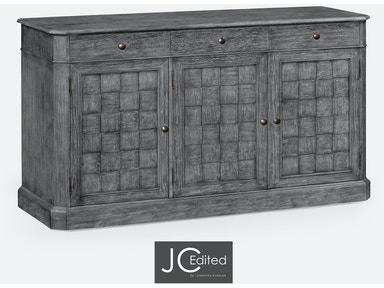 "Jonathan Charles 68"" Antique Dark Grey Three Door Sideboard 491001-ADG"