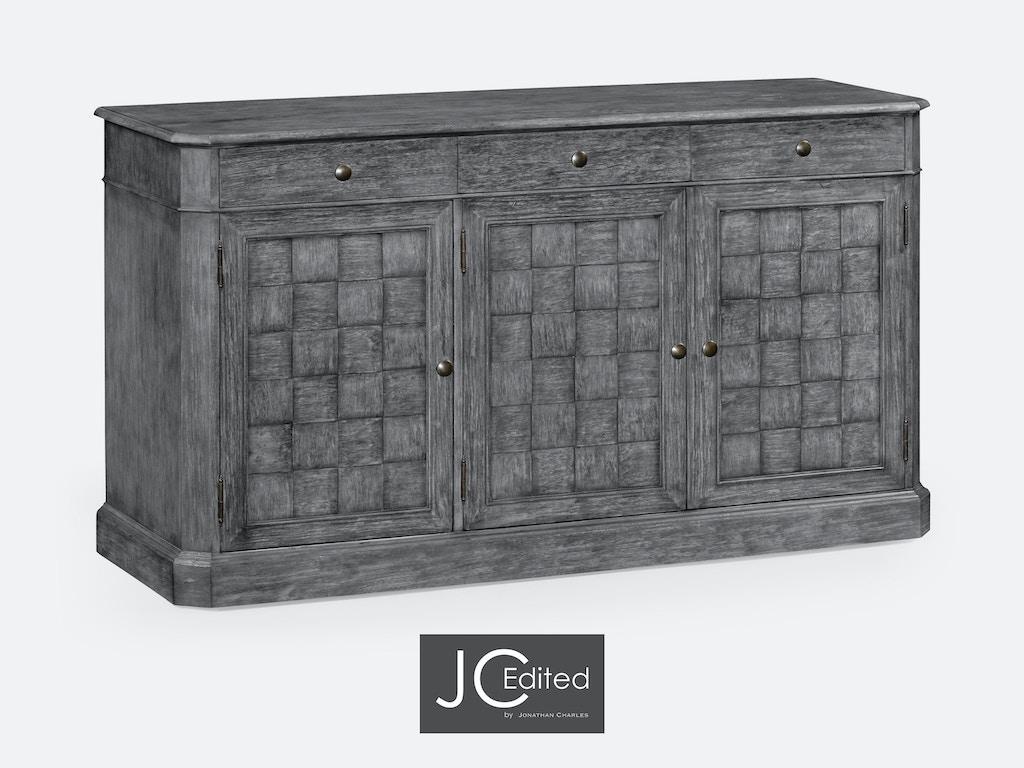 Jonathan Charles Dining Room 68 Antique Dark Grey Three Door Sideboard 491001 Adg Weinberger