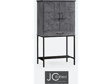 Jonathan Charles Antique Dark Grey Drinks Cabinet With Grey Silver Base 491003-ADG