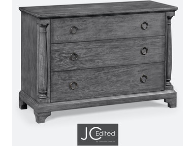 Jonathan Charles Antique Dark Grey Large Chest Of Drawers 491004-ADG