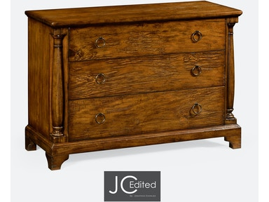 Jonathan Charles Country Walnut Large Chest Of Drawers 491004-CFW