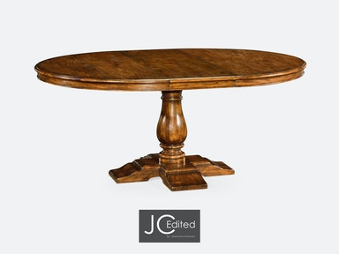 "Jonathan Charles 55"" Circular Extending Dining Table In Country Walnut 491009-55D-CFW"