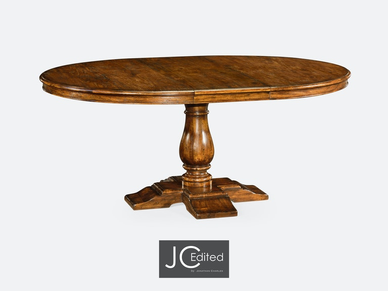 Jonathan Charles 55 Circular Extending Dining Table In Country Walnut Qj49100955dcfw