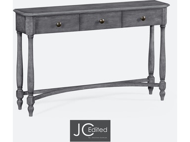 Jonathan Charles Antique Dark Grey Three Drawer Large Console Table 491010-ADG