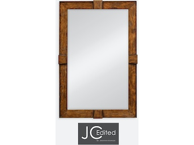 Jonathan Charles Country Walnut Rectangular Mirror 491011-CFW