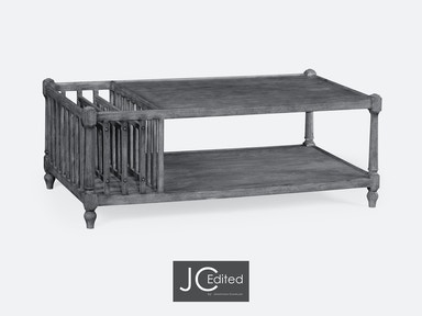ea4f08bf7c4ed Jonathan Charles Antique Dark Grey Rectangular Coffee Table With Magazine  Rack 491012-ADG