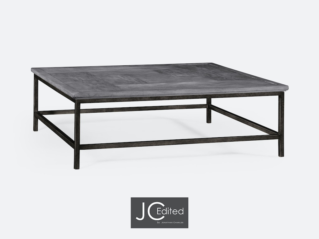 Admirable Jonathan Charles Living Room Antique Dark Grey Square Coffee Table With Iron Base Qj491014Adg Walter E Smithe Furniture Design Machost Co Dining Chair Design Ideas Machostcouk