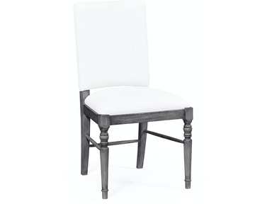 Jonathan Charles Antique Dark Grey Upholstered Side Chair (Com) 491018-SC-ADG-FCOM