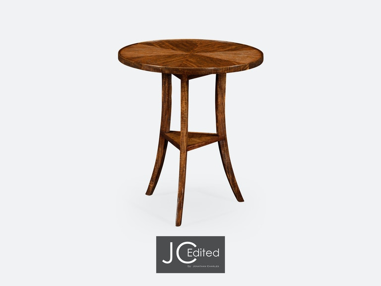 Walnut country style round lamp table qj491022cfw jonathan charles walnut country style round lamp table qj491022cfw from walter e smithe furniture aloadofball Images