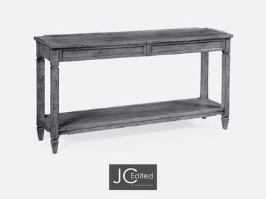 Jonathan Charles Living Room Console Table With Drawers In
