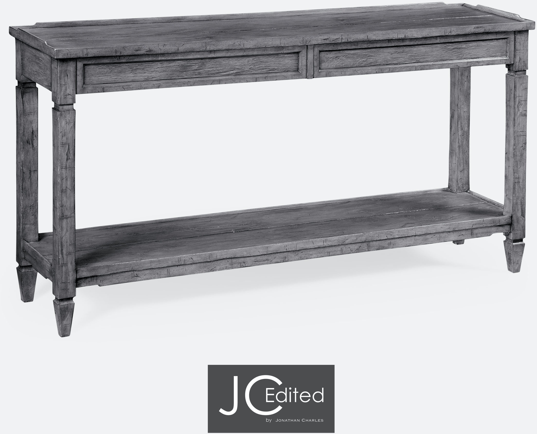 jonathan charles 491024 adg console table with drawers in antique