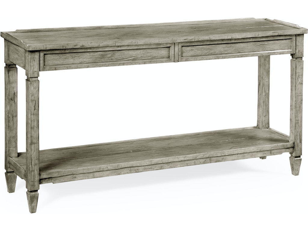 Jonathan Charles Living Room Console Table With Drawer In Light Grey Qj491024rga Walter E Smithe Furniture Design