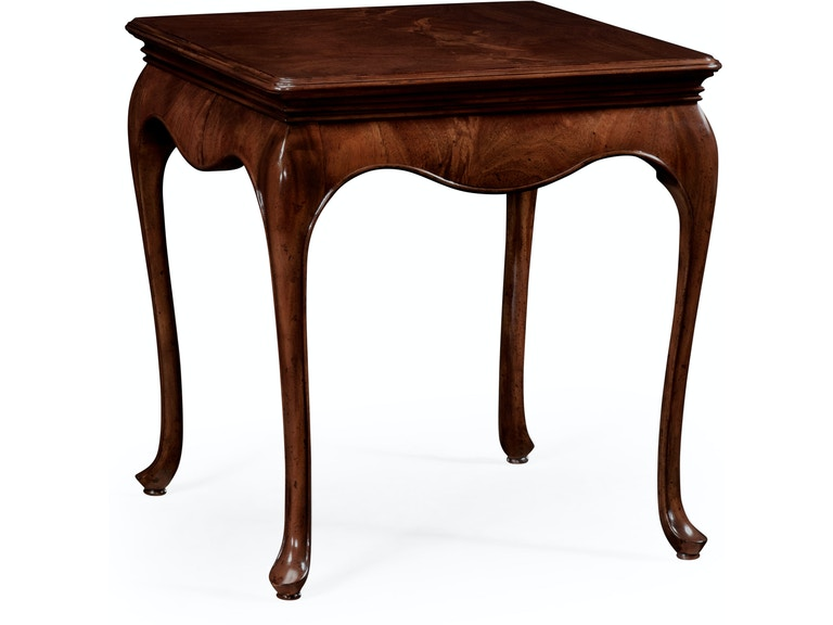 Jonathan Charles Square Side Table In Antique Mahogany 491034-MAH - Jonathan Charles Living Room Square Side Table In Antique Mahogany