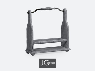 Jonathan Charles Wine Bottle Holder In Antique Dark Grey 491039-ADG
