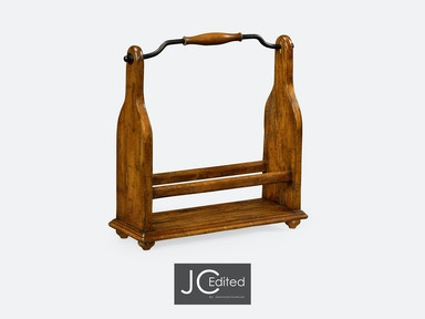 Jonathan Charles Wine Bottle Holder In Country Walnut 491039-CFW