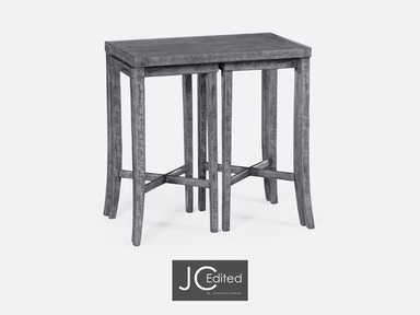 Jonathan Charles Nesting Cocktail Tables In Antique Dark Grey 491040-ADG