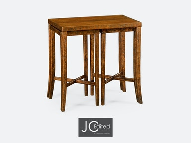 Jonathan Charles Nesting Cocktail Tables In Country Walnut 491040-CFW