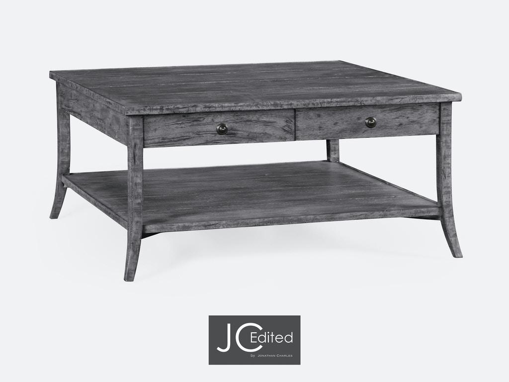Jonathan Charles Living Room Square Coffee Table In Antique Dark Grey 491041 Adg Weinberger 39 S