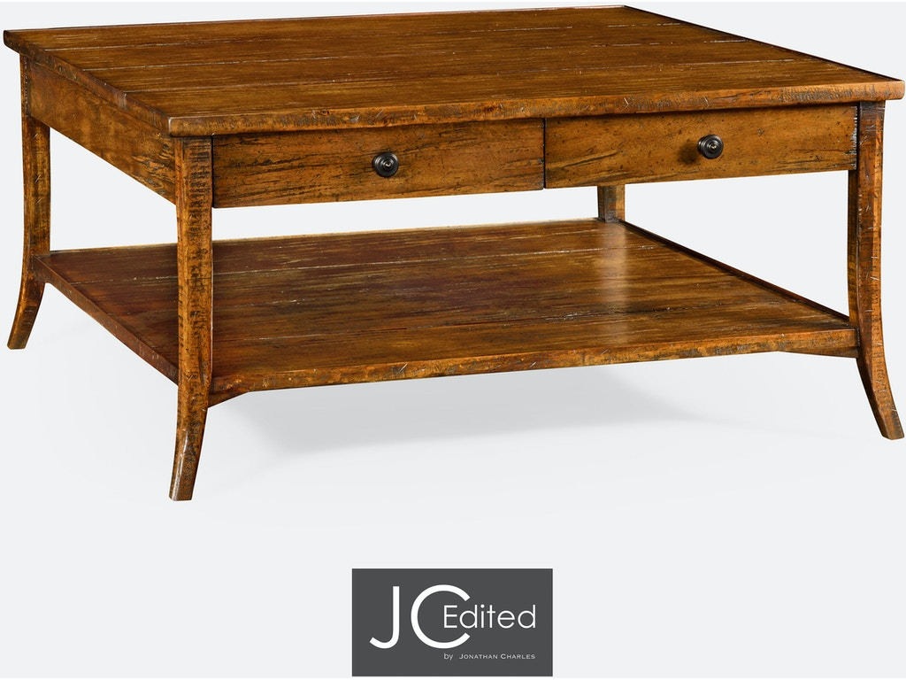 Jonathan charles living room square coffee table in for P square living room