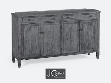 Jonathan Charles Four-Door Sideboard In Antique Dark Grey 491042-ADG