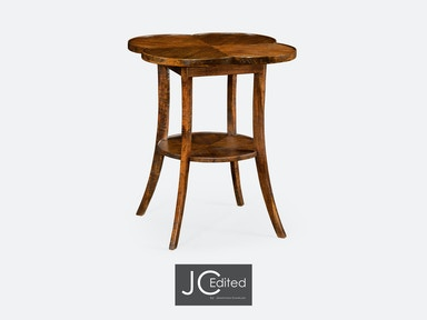 Jonathan Charles Quatrefoil Lamp Table In Country Walnut 491043-CFW