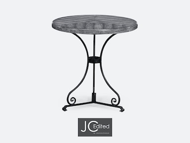Jonathan Charles Antique Dark Grey Style Parquet Table 491046-ADG
