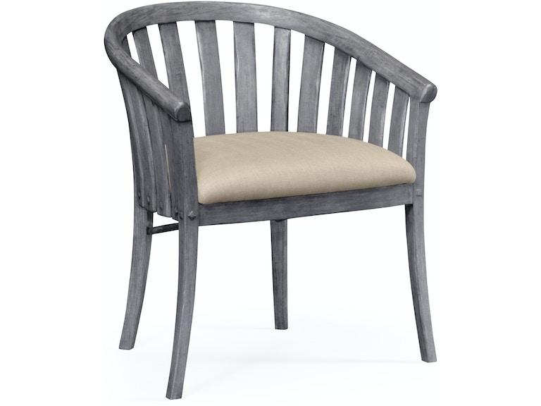 Jonathan Charles Antique Dark Grey Style Tub Chair 491047-AC-ADG-F001 - Jonathan Charles Dining Room Antique Dark Grey Style Tub Chair