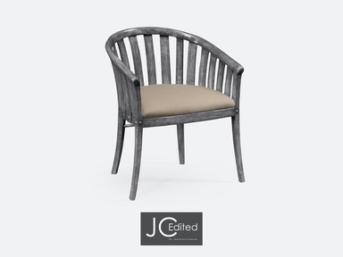 Jonathan Charles Antique Dark Grey Style Tub Chair 491047-AC-ADG