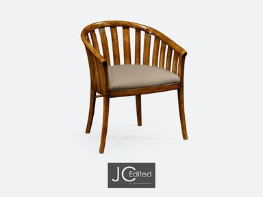 Jonathan Charles Country Walnut Style Tub Chair 491047-AC-CFW