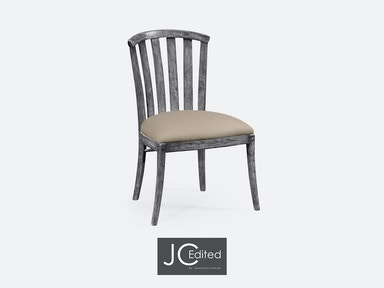 Jonathan Charles Antique Dark Grey Style Curved Back Chair 491047-SC-ADG